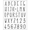Clear Stamps - Alphabet modern