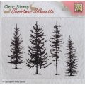 Clear Stamps - Christmas Silhouette pine trees