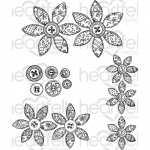 Cling Stamps - Buttons and Blooms