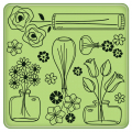 Cling Stamps - Flower