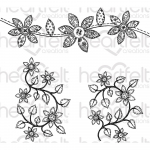 Cling Stamps - Patchwork Daisy Border