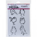 Cling Stamps Dina Wakley Media - Scribbly Small Birdies
