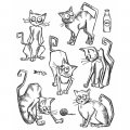 Cling Stamps Tim Holtz - Crazy Cats