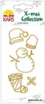 Crystal Sticker Snowman/Snowcap gold