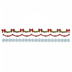 Decorative Strip Die - Holly, Beaded and Snowflake Garland