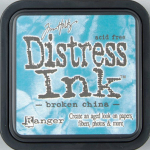 Distress Ink Kissen - Broken China