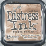 Distress Ink Kissen - Frayed Burlap