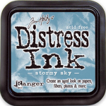 Distress Ink Kissen - Stormy Sky