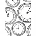 Embossing Folder - Clock Background
