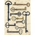 Lifes Journey Metal Art - Keys
