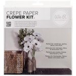 W R Crepe Paper Flower Kit - white