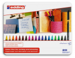 edding-1200 Colorpen Set (20 Stifte)