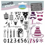 Aladine Clear Stamps - Adult Birthday