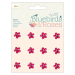 Bluebirds and Roses Adhesive Gems
