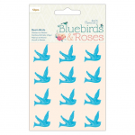 Bluebirds and Roses Resin Birds