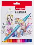Bruynzeel Fineliner Brush Pen Set 24er Set