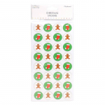 Christmas 3D Sticker - Gingerbread Man