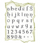 Clear Stamps - Alphabet klein
