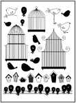 Clear Stamps - Birds and Birdcages