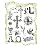 Clear Stamps - Christliche Symbole