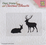 Clear Stamps - Christmas Silhouette reindeer