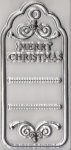 Clear Stamps - Create Christmas - Schild Merry Christmas