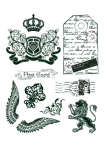 Clear Stamps - Crown, Lion, Wings