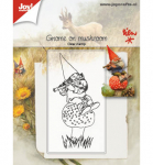 Clear Stamps - Gnome auf Pilz