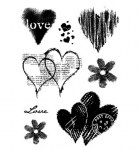 Clear Stamps - Heart Collection