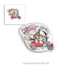 Clear Stamps - Horace and Boo Scooting Along