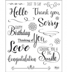 Clear Stamps - Just to say