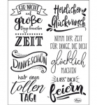 Clear Stamps - Lettering Deutsch