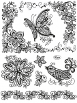 Clear Stamps - Scribble Schmetterling