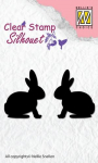 Clear Stamps - Silhouette Hasen