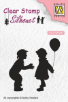 Clear Stamps - Silhouette Kinder mit Ballon