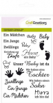 Clear Stamps - Text DE Baby