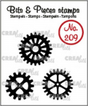 Clear Stamps Bits and Pieces - Nr. 209 - 3x Zahnräder (solide)