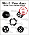 Clear Stamps Bits and Pieces - Nr. 211 - 5x Zahnräder klein (sol