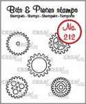 Clear Stamps Bits and Pieces - Nr. 212 - 5x Zahnräder klein (Umr