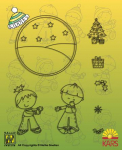 Clear Stamps Set Kiddies warm christmas