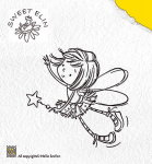 Clear Stamps star