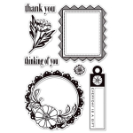 Cling Stamp Indie Bloom enjoy
