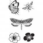 Cling Stamps - Butterfly Specifics
