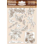 Cling Stamps -  Poinsettia, Winter Tales