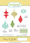 Cling Stamps - Shiny + Bright