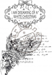 Cling Stamps - Vintage Dreaming of a white Christmas