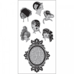Cling Stamps - Vintage Portraits