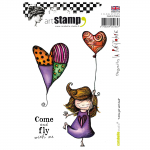 Cling Stamps - little girl with balloon