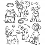 Cling Stamps Tim Holtz - Crazy Dogs