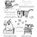 Cling Stamps Tim Holtz - Snarky Cat Christmas